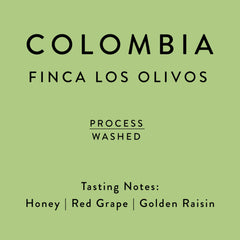 Horsham Coffee Roaster: Colombia, Finca Los Olivos, Washed