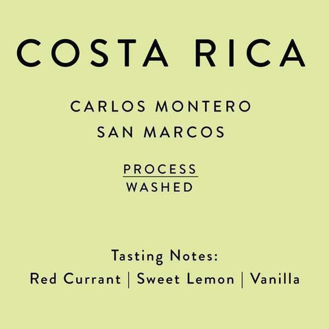 Horsham Coffee Roaster: Costa Rica, Carlos Montero Don Eli, Washed