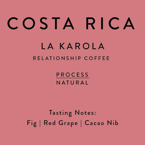 Horsham Coffee Roaster: Costa Rica, La Karola, Natural