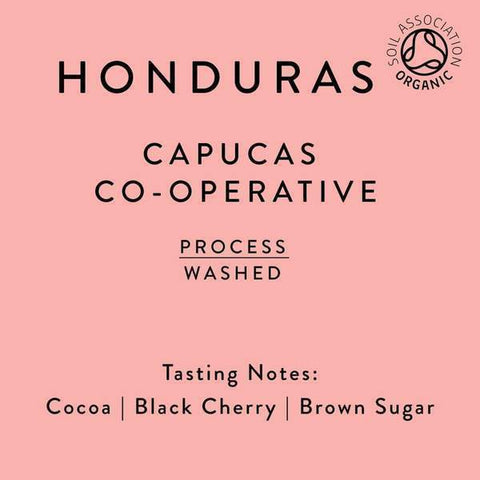 Horsham Coffee Roaster: Honduras, Capucas co-op, Washed