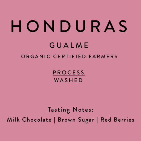 Horsham Coffee Roaster: Honduras, Gualme, Washed