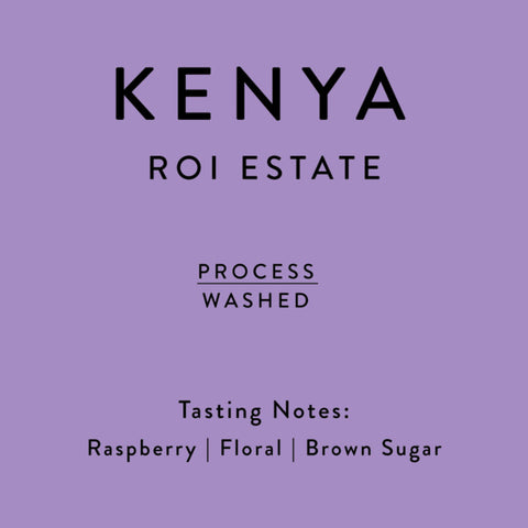 Horsham Coffee Roaster: Kenya, Roi Estate, Washed