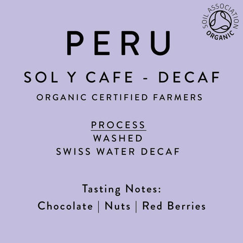 Horsham Coffee Roaster: Peru, Organic Swiss Water, Decaffeinated