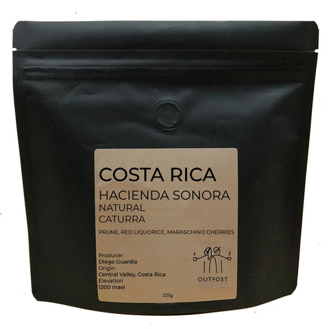 Outpost Coffee Roasters: Costa Rica, Hacienda Sonara, Natural