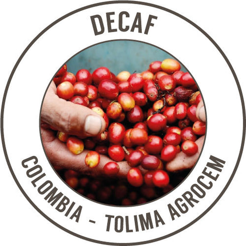 Rinaldos Coffee: Decaf - Colombia - Tolima Agrocem - Sugar Cane Process