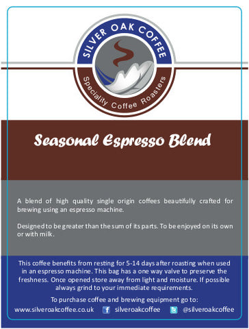 Silver Oak Coffee - Seasonal Espresso Blend