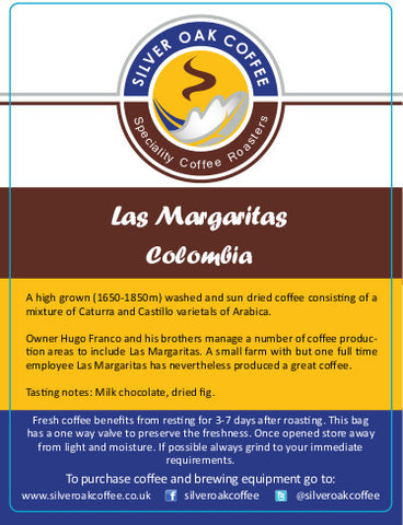 Silver Oak Coffee - Single estate: Las Margaritas, Colombia