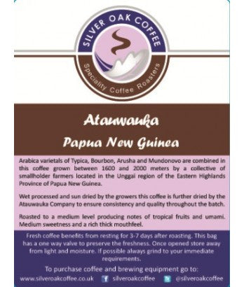 Silver Oak Coffee - Single Origin: Atauwauka, Papua New Guinea
