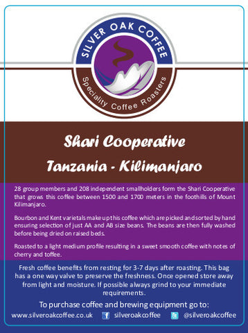 Silver Oak Coffee - Single Origin: Shari Cooperative, Tanzania