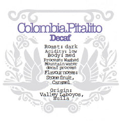 The Crafted Coffee Company - Colombia Pitalito - Decaf
