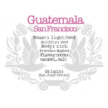 The Crafted Coffee Company - Guatemala Finca San Francisco