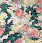 abstract impressionist flowers, with heavy brushstrokes