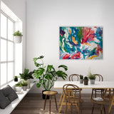 "Large Abstract Floral | ""You're All I Need"" 