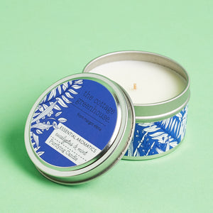The Cottage Greenhouse Eucalyptus & Mint Travel Candle