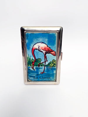 La Loteria 'la garza' Metal Card Case