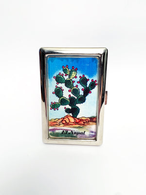 La Loteria 'el nopal' Metal Card Case