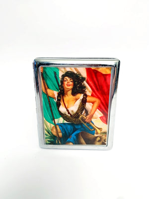 Sexy Pistolera Metal Card Case