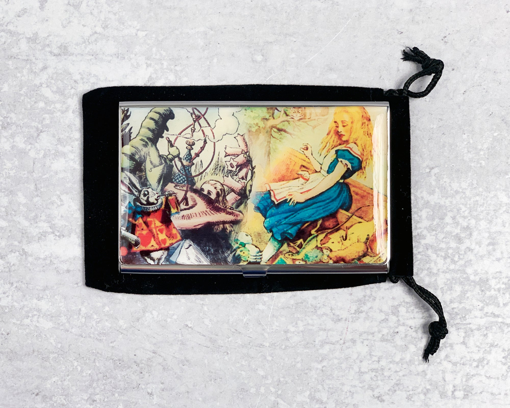 Alice in Wonderland Metal Card Case
