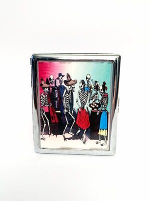 Dancing Skeletons Metal Card Case