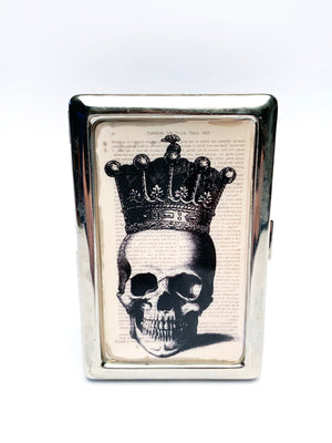 Skull wearing Crown Metal Card Case