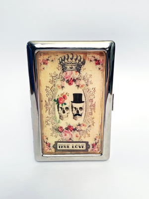 True Love Skulls Metal Card Case