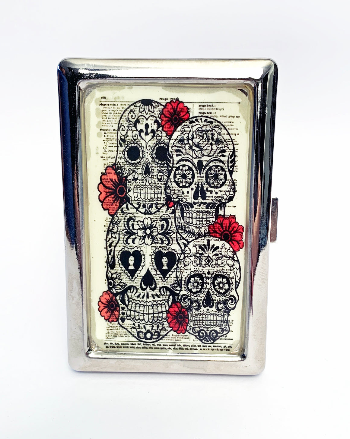 Calaveras and Roses Metal Card Case