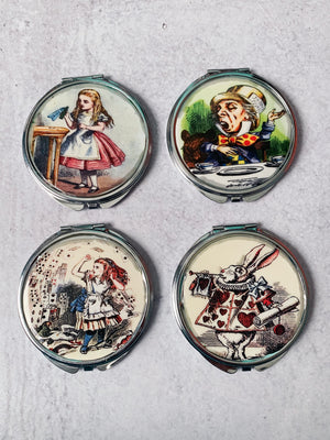 Alice In Wonderland Compact Mirror