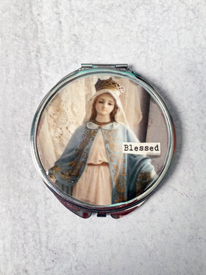 Blessed Sacred Statue Compact Mirror