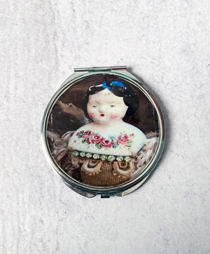 Porcelain Doll Compact Mirror