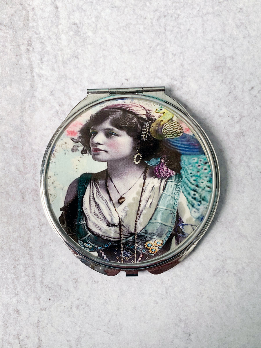 Flapper Lady Compact Mirror