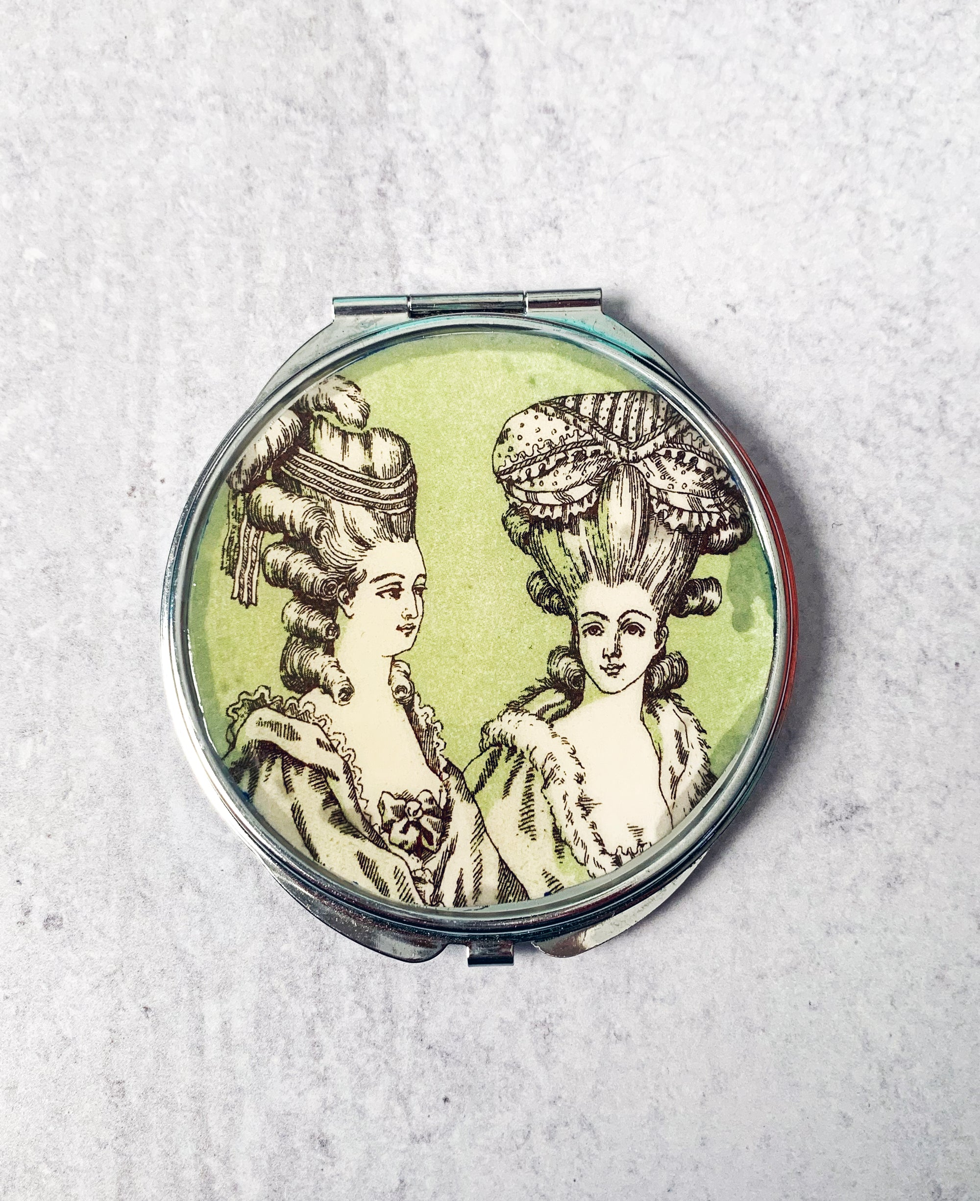French Women Compact Mirror