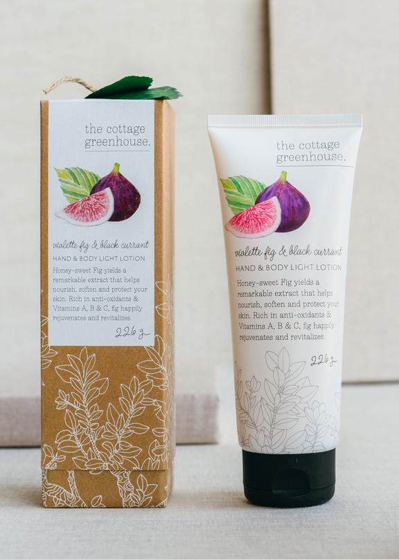 The Cottage Greenhouse Violet Fig and Black Currant Hand & Body Lotion