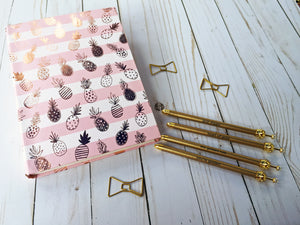 Gold Polka Dot Crown Ballpoint Pen with Cute Mantra