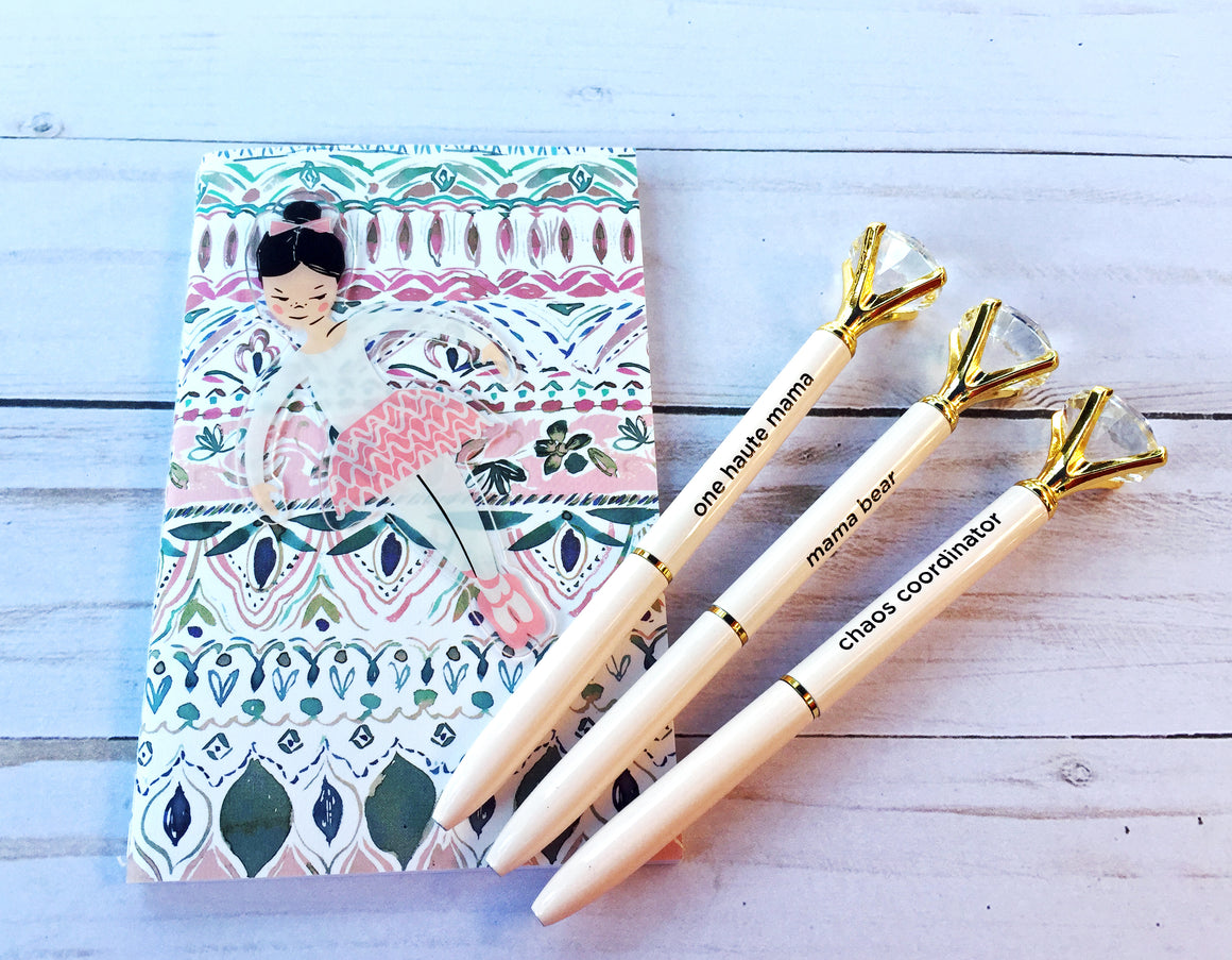 Diamond Top Blush Ballpoint Pen