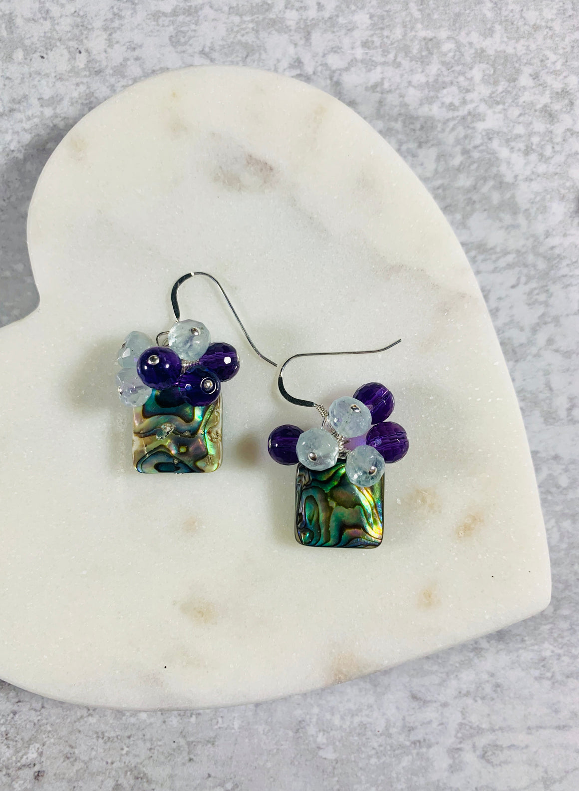 Mermaid Kisses Abalone Earrings