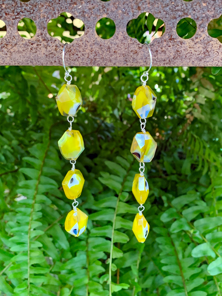 Lengthy Lemon Drop Earrings