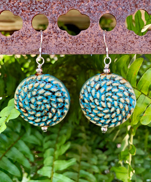 Ceramic Textured Bead Earrings