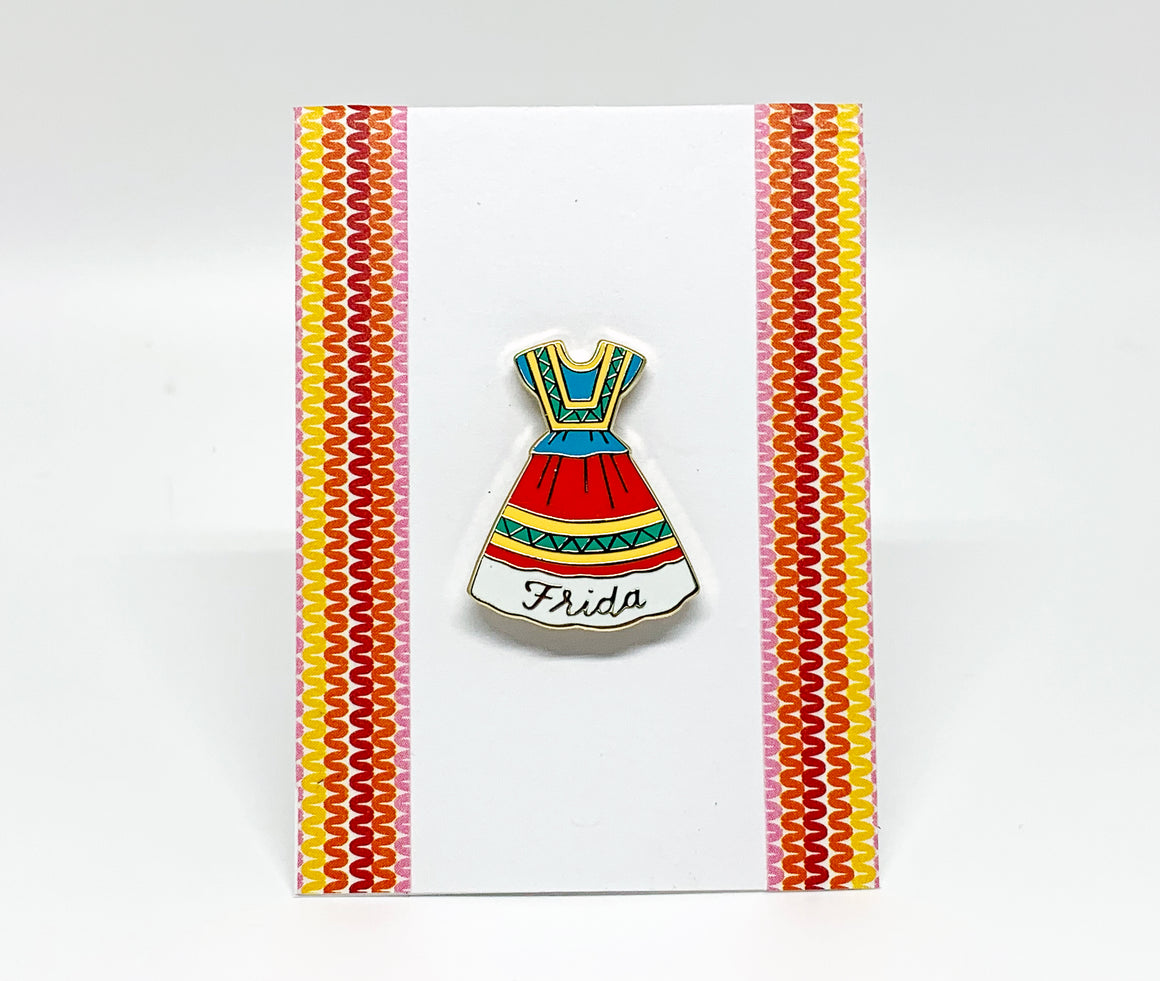 Frida Kahlo's Dress Enamel Pin