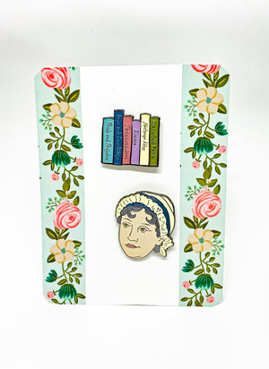 Jane Austen Enamel Pin