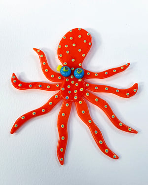 Glass Octopus Wall Art