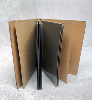 Bird and Crown Blank Kraft Paper Journal with Photo Sleeves