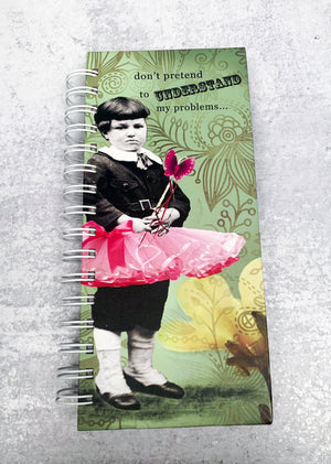 Boy wearing Pink Tutu Spiral Journal