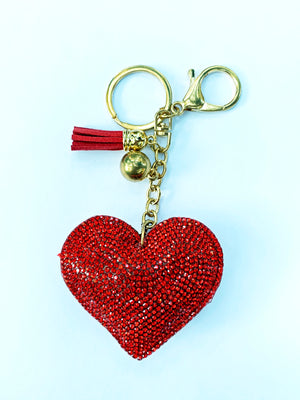 Puffy Heart Keychain