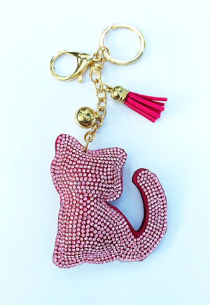 Pink Kitty Keychain
