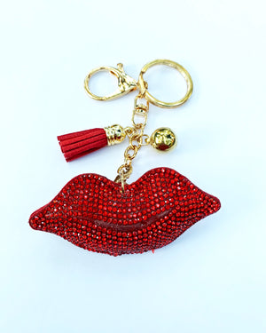 Red Puffy Lips Keychain