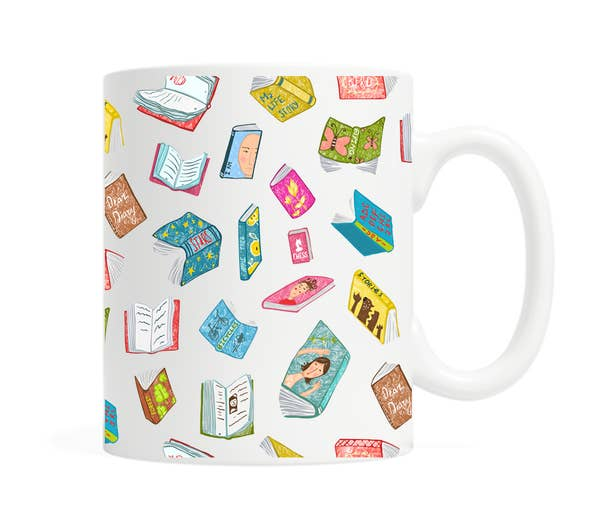 Floating Books Coffee Mug