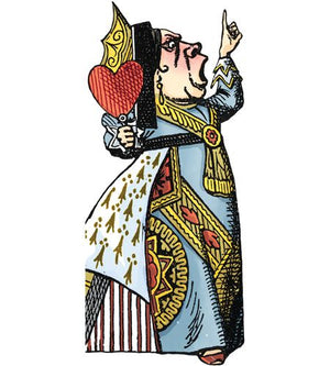 Alice in Wonderland Queen of Hearts Note Card