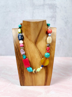 Colorful Medley Stone Necklace