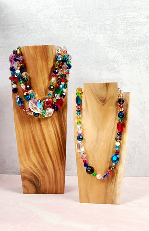 Live Colorfully Glass Necklace