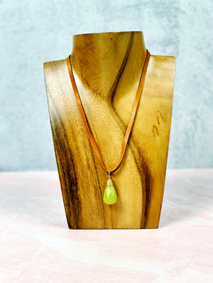 Pure Jade Briolette Necklace